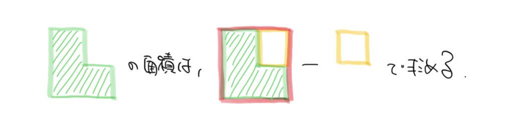 算数の面積図の手書き解説