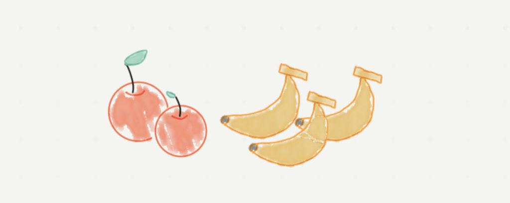 バナナとりんご